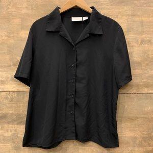 Worthington Petite Black Blouse
